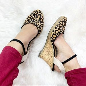 Sole Society leopard print Lucy wedge heels